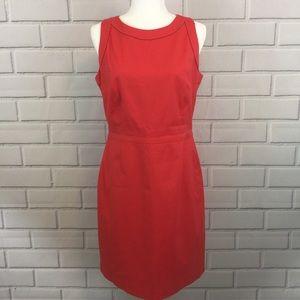 Elie Tahari Sleeveless Coral Shift Canvas Dress